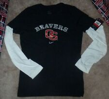 New Ncaa Oregon St State Beavers L/S Long Sleeve Women Nike T Shirt L Large Nwt