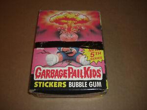 Topps GBK Full Box Series 5 Garbage Pail Kids 48 Packs of Cards Plus Box 1986