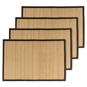 """Bamboo Placemat with Fabric Border  17.5"""" x 12"""" Wholesale Lots"""
