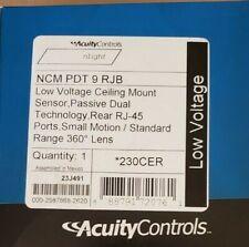 ACUITY nLIGHT NCM PDT 9 RJB CEILING MOUNT MOTION SENSOR  360 230CER -NEW/SEALED!