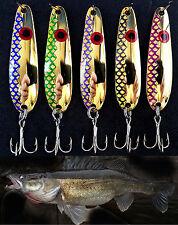 "2 3/8"" Gold Flash Trolling Flutter Spoons Lake Erie Walleye Candy 238GFRE"