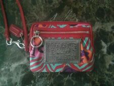 Coach Red Multicolor Poppy Groovy Wallet Wristlet collector's item very rare!!