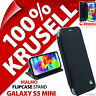 Krusell Malmo Flip Case Black Cover Wallet Folio for Samsung Galaxy S5 Mini