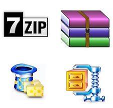 Estratto di 7zip e il software di compressione compatibile con WinZip ZIP Unzip WINRAR