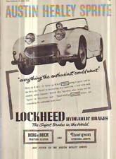 ORIGINAL ADVERTISEMENT  AUSTIN HEALEY SPRITE BUGEYE AUTOCAR  LAMINATED 1958