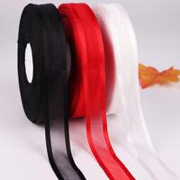 ALS_ 25 Yards Satin Grosgrain Ribbon Hair Bow DIY Wedding Party Gift Wrapping De