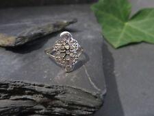 Schöner Silber Ring Filigran Dünn Zart Retro Vintage Filigran Blumen Durchbruch