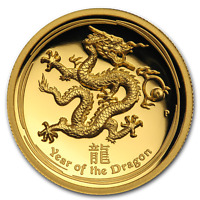 2012 Australia 1 oz Gold Lunar Dragon Proof (UHR) - SKU #73345