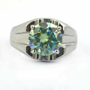 3.50 Ct Certified Blue Diamond Solitaire Ring Excellent Cut & Luster - Wedding