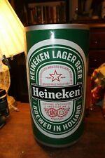 """Vintage Heineken Lager Beer Large Store Display Plastic Can 19"""" x 10"""""""