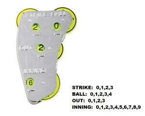 Champion Sports 4-Wheel STEEL Umpire Indicator - Strikes, Balls, Outs, Innings