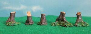 Tree Stumps (10) - OO Gauge/1:76 scale - Painted