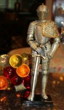 """2002 Knights Edge Stunning Medieval Knight with Sword 13"""" Resin Figurine Statue"""