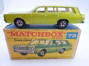 VINTAGE MATCHBOX SUPERFAST No.73c MERCURY COMMUTER IN ORIGINAL BOX 1970