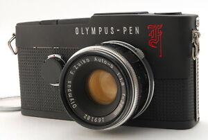 Olympus PEN F 35mm Film Camera w/zuiko 38mm f1.8[MATTE BLACK REPAINT] JAPAN