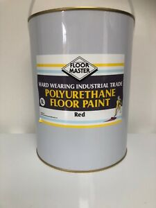 FLOORMASTER GARAGE/WORKSHOP FLOOR PAINT 5LT RED Used By the Professionals.