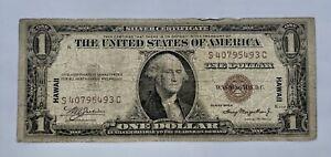 $1.00 Hawaiian Overprint Silver Certificate Series 1935-A