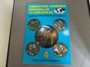 ARGENTINA WORLD CUP CHAMPIONS 1978/82 BROCHURE - SPANISH/ENGLISH TEXT