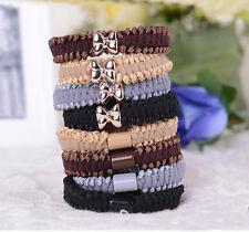 5pcs Girls elastic hair ties band rope ponytail bracelets scrunchie
