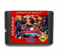 Streets of Rage 2 Genesis Sega Game Card Mega 16 Bit Drive Md Video Megadrive