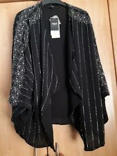 L@@K NWT NEXT SIZE L 16-18 SEQUIN/BEAD EMBELISHED WATERFAL KIMONO JACKET £75