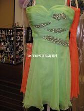 Sherri Hill Mint Green Chiffon Beaded Cocktail Dress sz 6