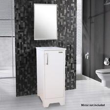 "13"" Small Bathroom Vanity Modern Cabinet Table Organizer Wood Top White"