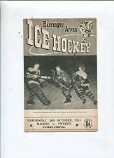 1955 Harringay racers vs Sweden vintage British hockey league program MBX93