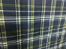 NAUTICA Blue Green and White Plaid TWIN X-Long Reversible Comforter - Cotton