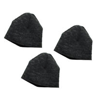 "3x 1/6 Scale Male Beanie Cap Hat Winter Warm Accs For 12"" Action Figure Gray"
