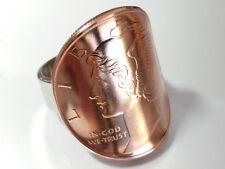 Münzring Medaille 1/2 Oz Kupfer USA Liberty / Edelstahl Größe 58 poliert