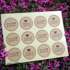 120PCS HANDMADE WITH LOVE GIFT SEAL CRAFT STICKERS LABELS DIY WEDDING FAVOUR SPE