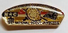 Mecklenburg Co Council (NC) 1997 National Jamboree CSP Shaped Hat Pin  BSA