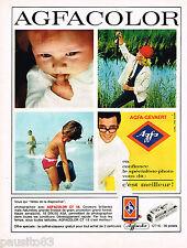 PUBLICITE ADVERTISING 055  1966  AGFACOLOR  CT 8 DIAPOSITIVE le coffret-classeur