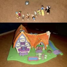 Snow White and Seven Dwarfs Cottage and Figures Bluebird Polly Pocket