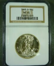 1945-D Walking Liberty Half Dollar MS64 NGC