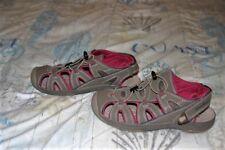 Eddie Bauer Women's MARY Bump Toe Sandal Leather Brown/Tan/Fuchsia Size 9 EUC