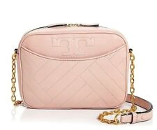 NWT TORY BURCH $498 PINK QUARTZ ALEXA CAMERA SHOULDER BAG