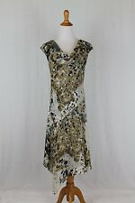 ADRIANNA PAPELL Long Chiffon 1920's Inspired Flapper Gatsby Deco Dress Size 8