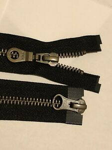 2 WAY,NO-5,YKK,ANTIQUE BRASS METAL BLACK TAPE, 36 INC/91CM LONG OPEN ENDED ZIP