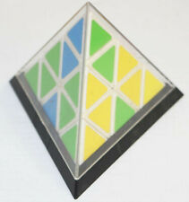 Vintage 1981 Tomy Pyraminx Pyramid Triangle Puzzle w/ Original Case Rubiks Cube