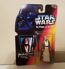 KENNER STAR WARS THE POWER OF THE FORCE OBI-WAN WITH LIGHT SABER & REMOVEABLE CL