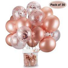 Ballon Confettis Or Rose Latex 30Pcs Déco Fêtes Anniversaire Mariage Baby Shower
