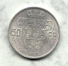 """Leopold III : 1940 : 50 frank Vl/Fr-Pos. A-zilver. """"zonder kruisje + driehoek""""."""