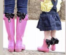 New Poppy Clips Rain Boot Clips Magnet Black Polka Dots Bows Silver Tone Nip