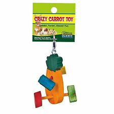 WARE WOOD CRAZY CARROT CHEW FOR SMALL ANIMAL TOY CHEW. FREE SHIPPING IN THE USA