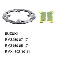 Rear Brake Disc Rotor Pads for SUZUKI RMZ250 07-17 RMZ450 05-17 RMX450Z 10-11