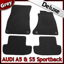 Audi A5 / S5 Sportback 2007 onwards Tailored LUXURY 1300g Carpet Car Mats GREY