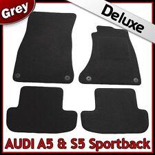 AUDI A5 Sportback Mk1 2007-2016 1300 G di lusso su misura tappetini auto moquette grigio