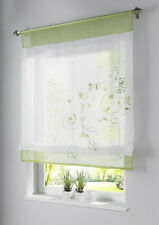 Vorhang Gardine Fenster Raffrollo Raffgardine Blumen Sticken Farbwahl 4 Größen